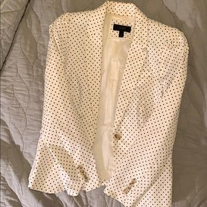 Jcrew cotton white blazer